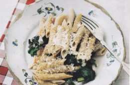Penne baked with chard