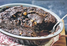 Self saucing dark chocolate pudding