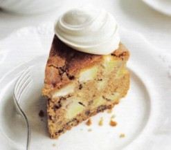 Apple bourbon pecan cake