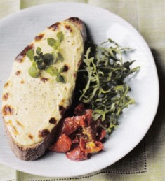 Baked ricotta on toast