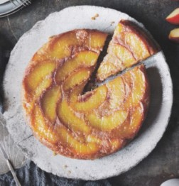 Nectarine and Polenta upside down cake