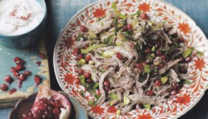 slow cooked lamb with pomegranate
