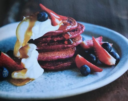 beetroot juice pancakes