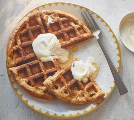 carrot and poppy seed waffles
