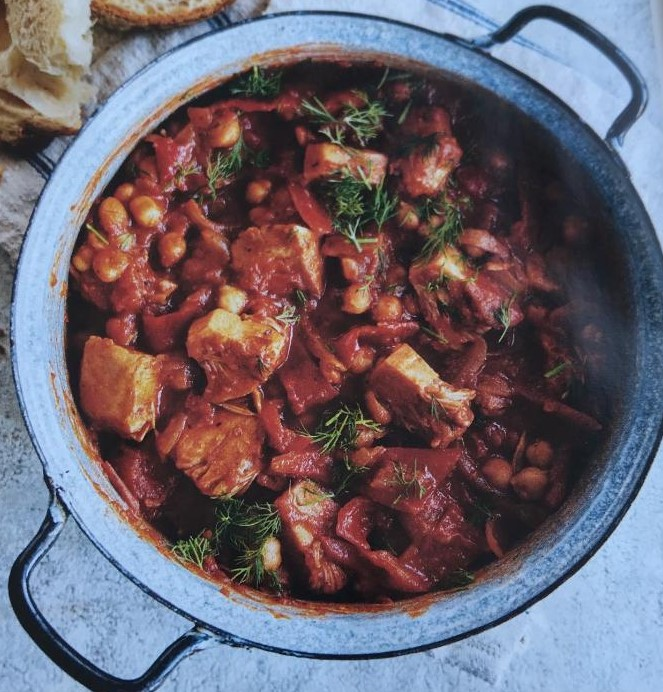 jackfruit and red pepper goulash